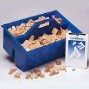 Geoblocks - 330 drewnianych graniastosłupów - w pudełku
