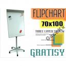 TABLICA MAGNETYCZNA SUCHOŚCIERALNA FLIPCHART 100X70